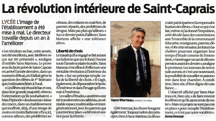 Sud Ouest 04/09/2014